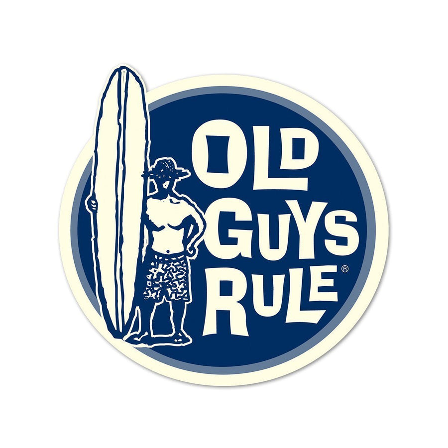 Old Guys Rule - Sticker - Surfer Guy II