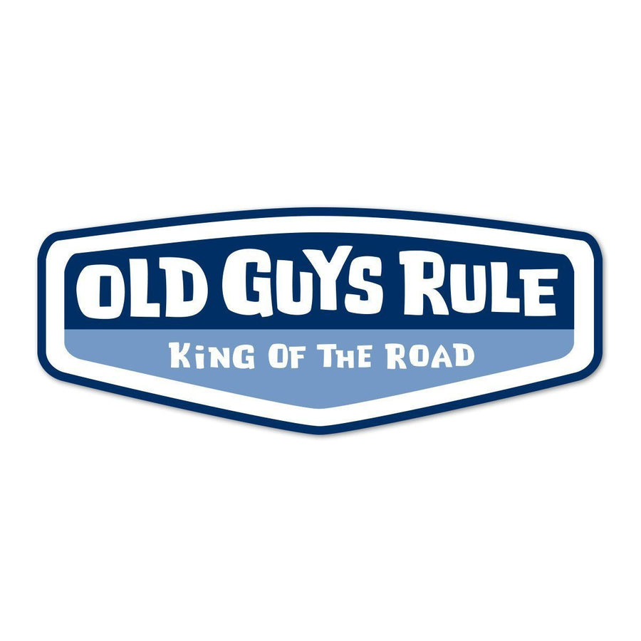 Old Guys Rule - Sticker - King of the Road (Blue)