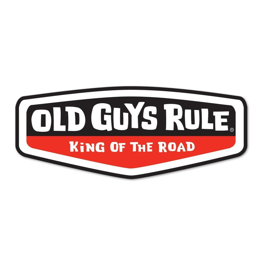 Old Guys Rule - Sticker - King of the Road (Red)
