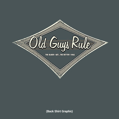 Old Guys Rule - Tonal Diamond - Dark Heather T-Shirt - Back Design