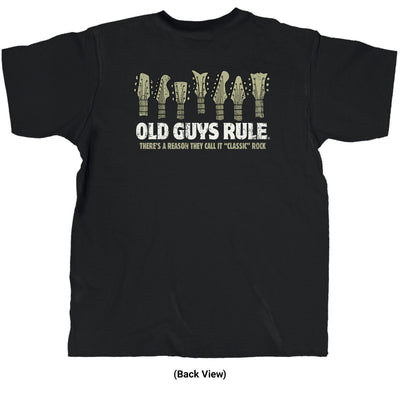 Old Guys Rule - Classic Rock - Black T-Shirt - Back