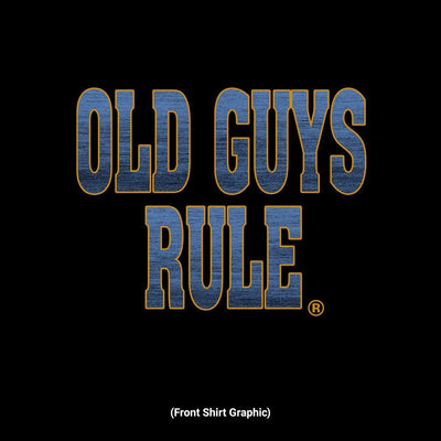 Old Guys Rule - Easy Rider - Black T-Shirt - Front Design