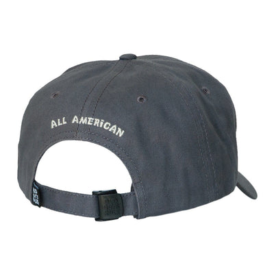 Old Guys Rule - American Flag - Charcoal Hat - Back