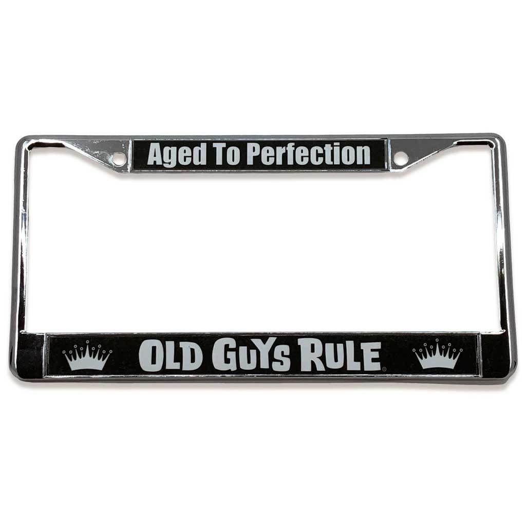 Old Guys Rule - Aged To Perfection License Plate Cover - Straight View