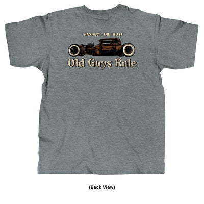 Old Guys Rule - Respect The Rust - Graphite Heather T-Shirt - Back