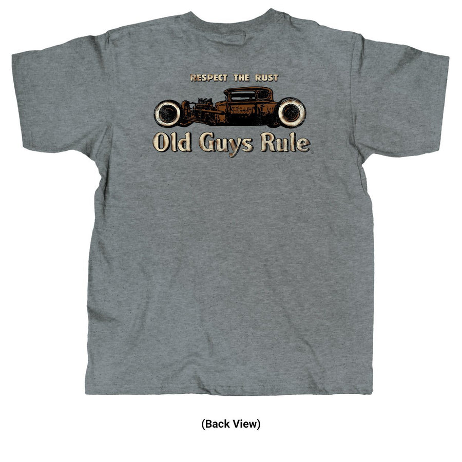 Old Guys Rule - Respect The Rust - Graphite Heather T-Shirt - Main View