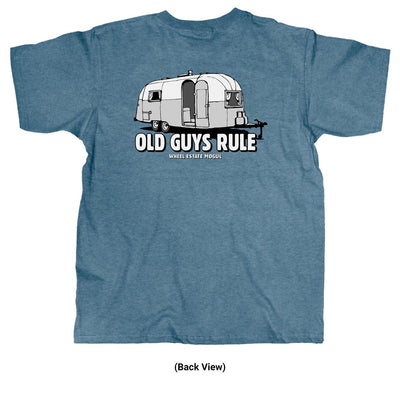 Old Guys Rule - Wheel Estate - Heather Indigo T-Shirt - Back
