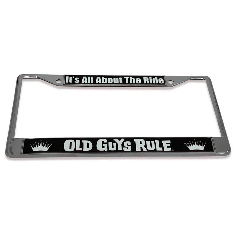 Old Guys Rule - It's All About The Ride License Plate Cover - Straight View