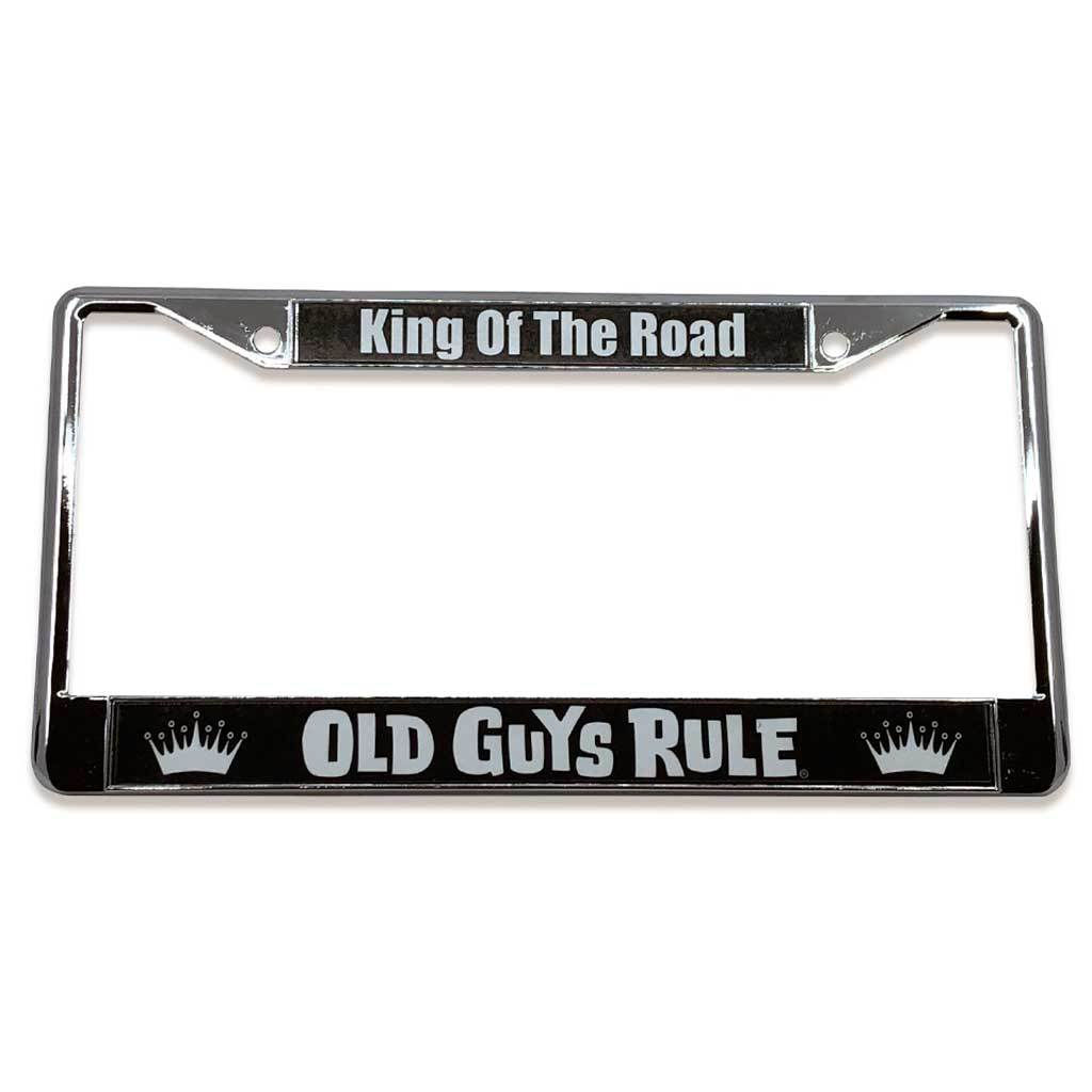 Old Guys Rule - King Of The Road License Plate Cover - Straight View