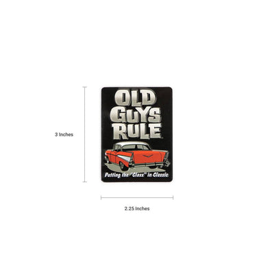 Old Guys Rule - OGR Classic - Magnet - Dimensions