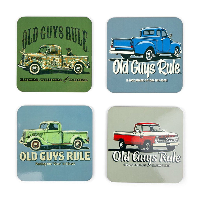 Vintage Trucks Themed Coasters (Set of 4)