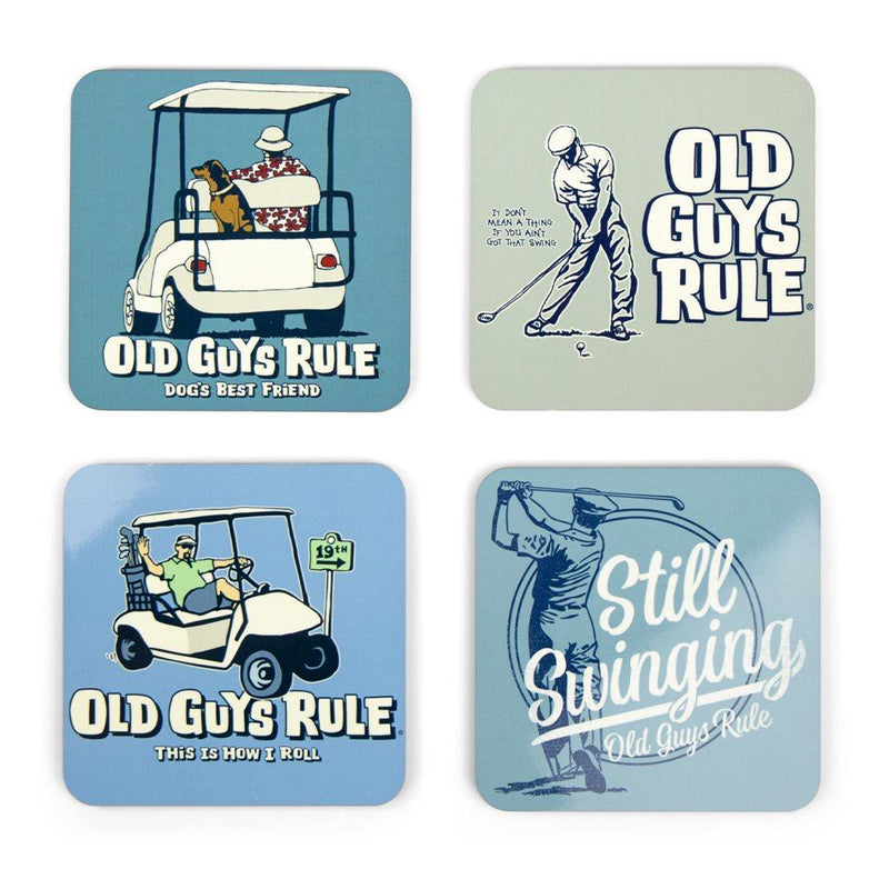Golf Themed Coasters (Set of 4)