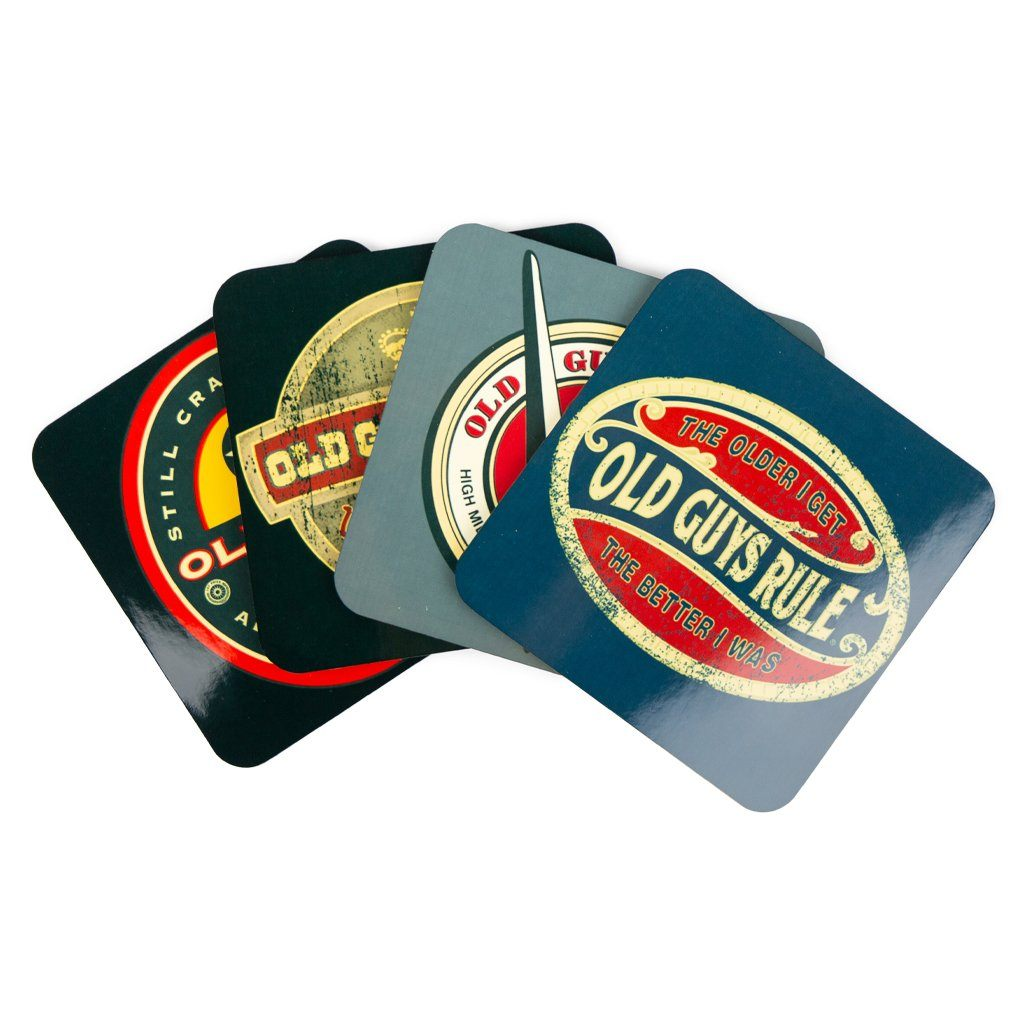 Vintage Design Themed Coasters (Set of 4)