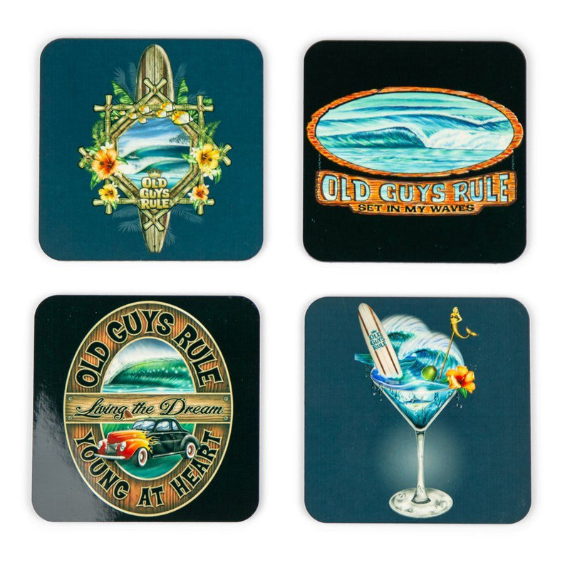 Surfer Themed Coasters (Set of 4)