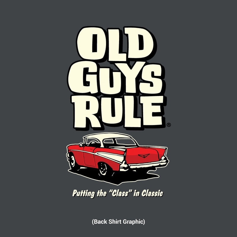 "Old Guys Rule - Putting the ""Class"" in Classic - Charcoal T-Shirt - Main View"