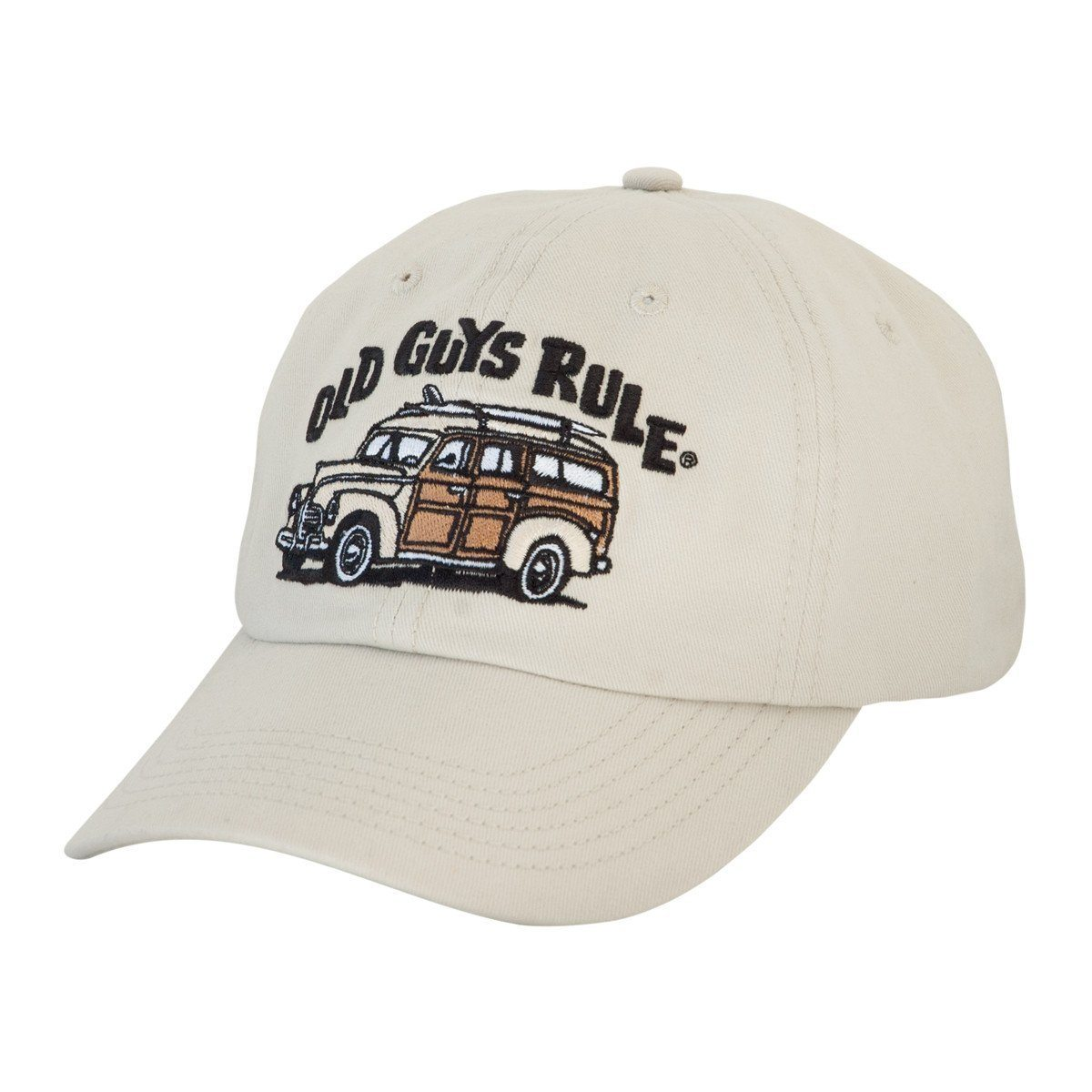 Old Guys Rule - Woodie Cap - Stone Hat- Front View