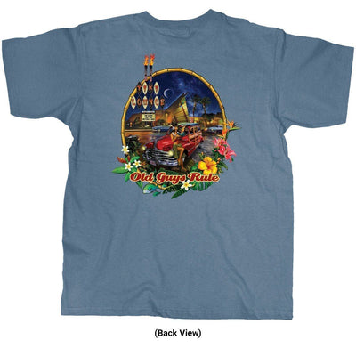 Old Guys Rule - Tiki Lounge - Lake Blue T-Shirt - Back