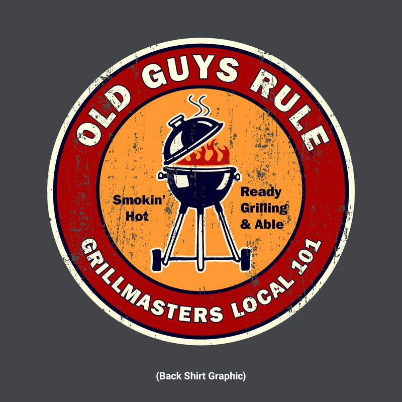 Old Guys Rule - Grillmasters Local - Charcoal T-Shirt - Main View