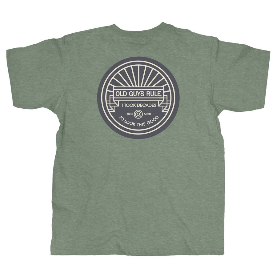 Old Guys Rule - It Took Decades - Heather Military Green T-Shirt - Main 97adab3d3b4b