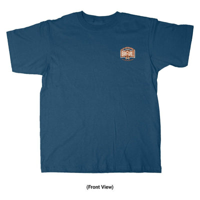 Old Guys Rule - Bar & Grill - Blue Dusk T-Shirt - Front View