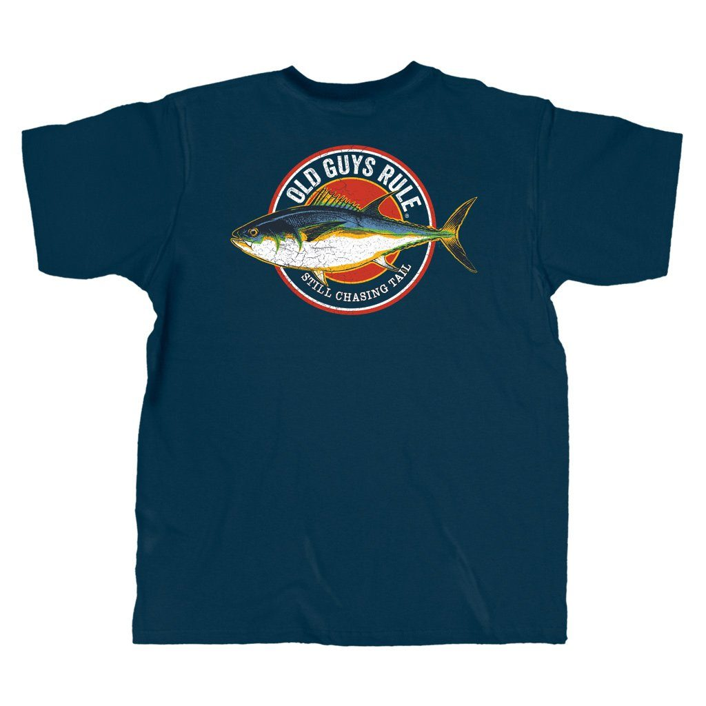 Old Guys Rule - Chasing Tail - Navy T-Shirt - Main View