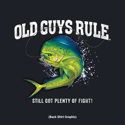 Old Guys Rule - Reel Men - Iris T-Shirt - Back Graphic