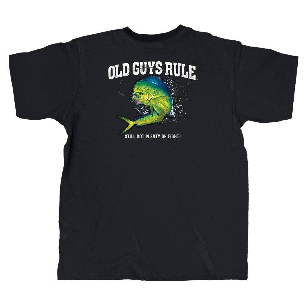 Old Guys Rule - Plenty Of Fight - Black T-Shirt - Main View