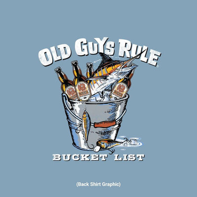 Old Guys Rule - Bucket List - Stone Blue - Back Graphic