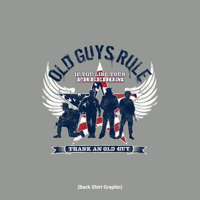 Old Guys Rule - Freedom Star - Gravel - Back Graphic