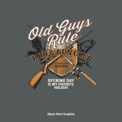Old Guys Rule - Rod & Gun Club - Dark Heather - Back Graphic