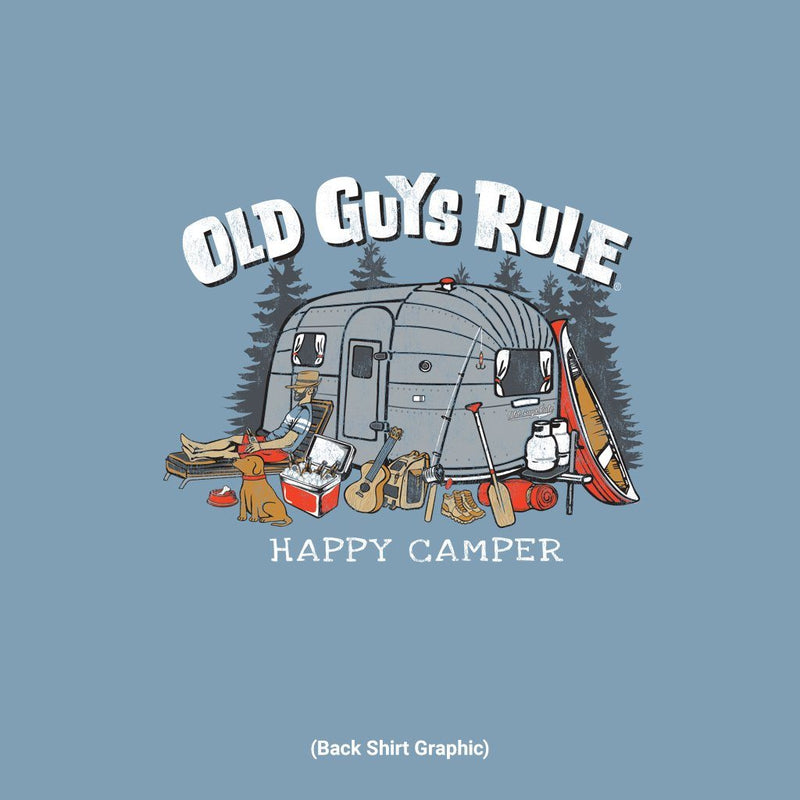 Old Guys Rule - Happy Camper - Stone Blue - Main View