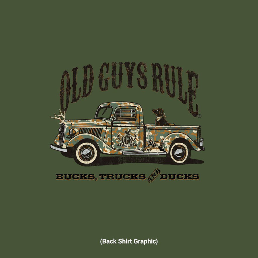 Old Guys Rule - Camo Truck - Military Green - Main View
