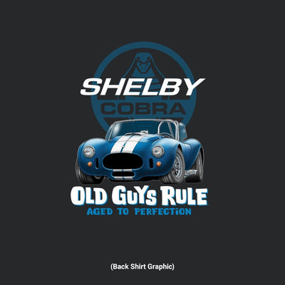 Old Guys Rule - Shelby 427 Cobra - Black - Back Graphic