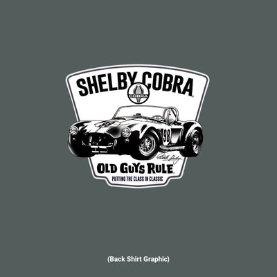 Old Guys Rule - Shelby Cobra 98 - Dark Heather - Back Graphic