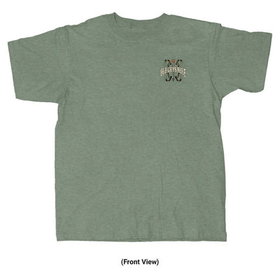 Old Guys Rule - Bow Hunter - Heather Military Green T-Shirt - Front View