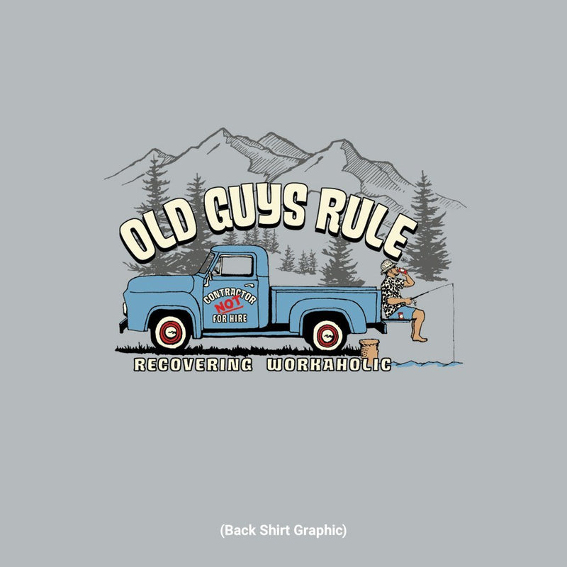 Old Guys Rule - Recovering Workaholic - Sport Grey T-Shirt - Main View