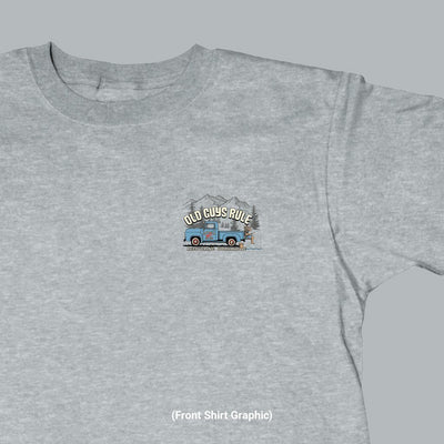 Old Guys Rule - Recovering Workaholic - Sport Grey T-Shirt - Front Graphic