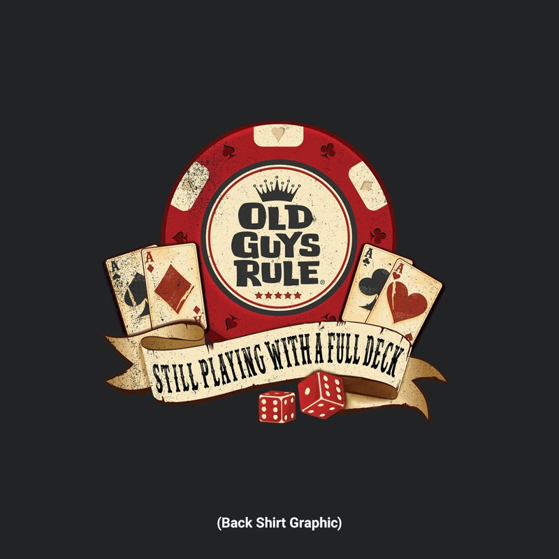 Old Guys Rule - Poker Chip - Black T-Shirt - Main View