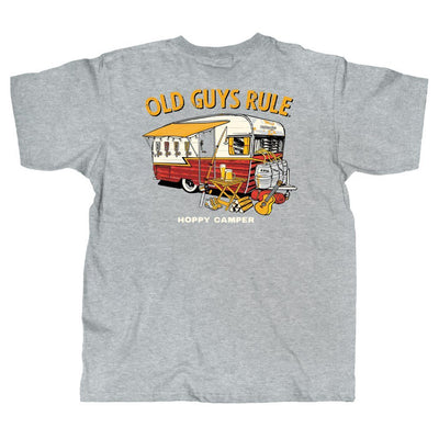 Old Guys Rule - Hoppy Camper - Sport Grey T-Shirt - Main View
