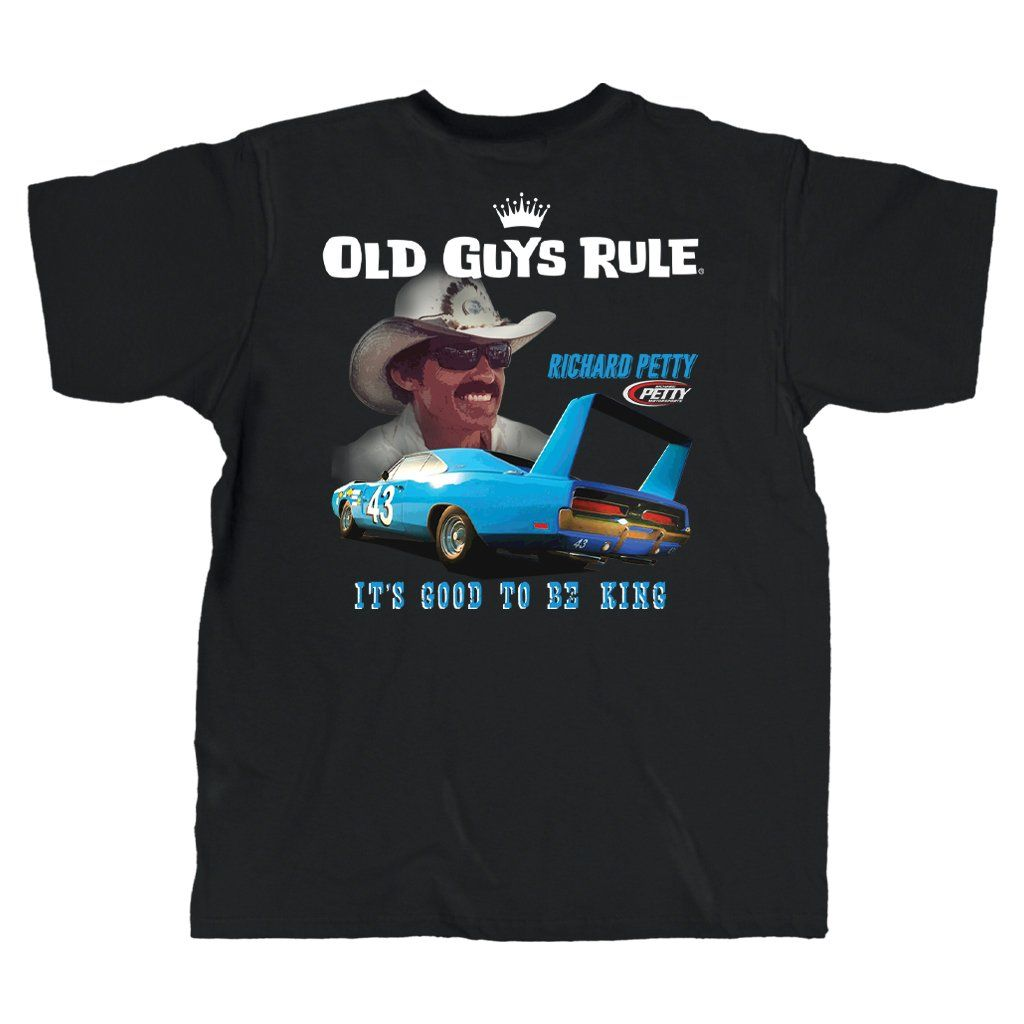 Old Guys Rule - It's Good To Be King - Black T-Shirt - Main View