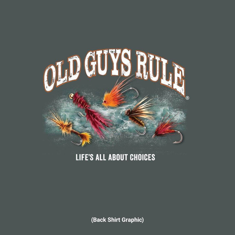 Old Guys Rule - Tie One On - Dark Heather T-Shirt - Main View