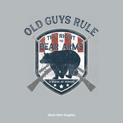 Old Guys Rule - Bear Arms - Sport Grey T-Shirt - Back Graphic