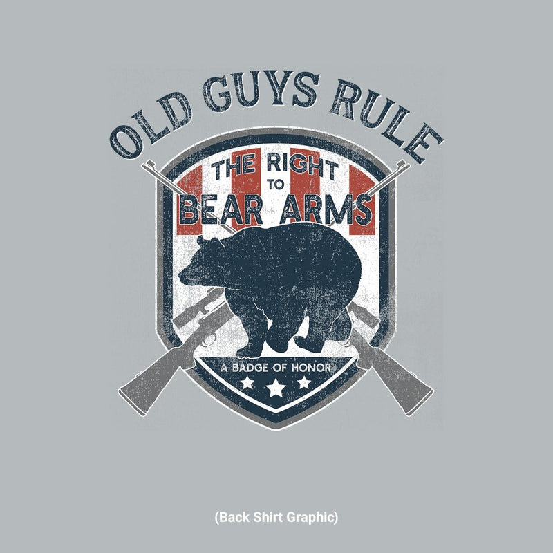 Old Guys Rule - Bear Arms - Sport Grey T-Shirt - Main View