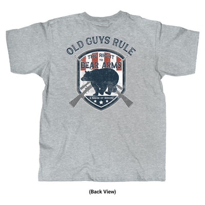 Old Guys Rule - Bear Arms - Sport Grey T-Shirt - Back View