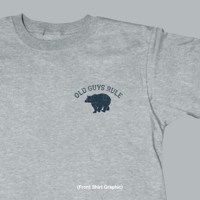 Old Guys Rule - Bear Arms - Sport Grey T-Shirt - Front Graphic
