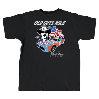 Old Guys Rule - Petty Nascar - Black T-Shirt - Main View