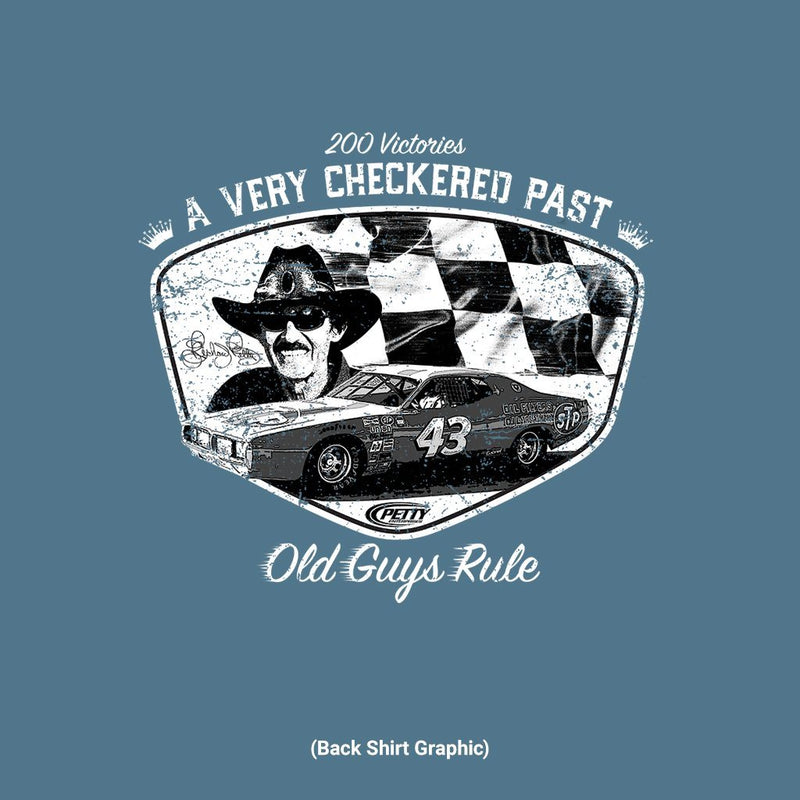 Old Guys Rule - Checkered Past - Heather Indigo T-Shirt - Main View