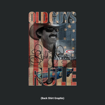 Old Guys Rule - American Petty - Black T-Shirt - Back Graphic