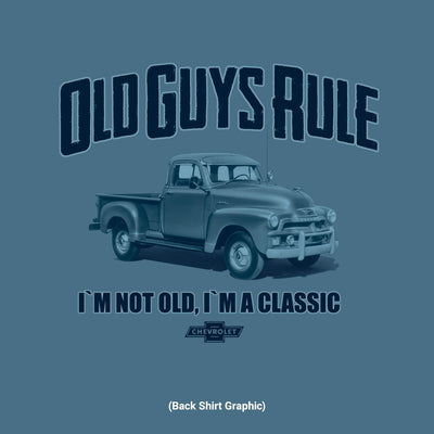 Old Guys Rule - I'm A Classic - Heather Indigo T-Shirt - Back Graphic