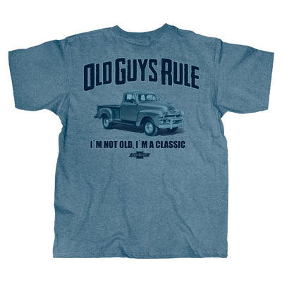Old Guys Rule - I'm A Classic - Heather Indigo T-Shirt - Main View
